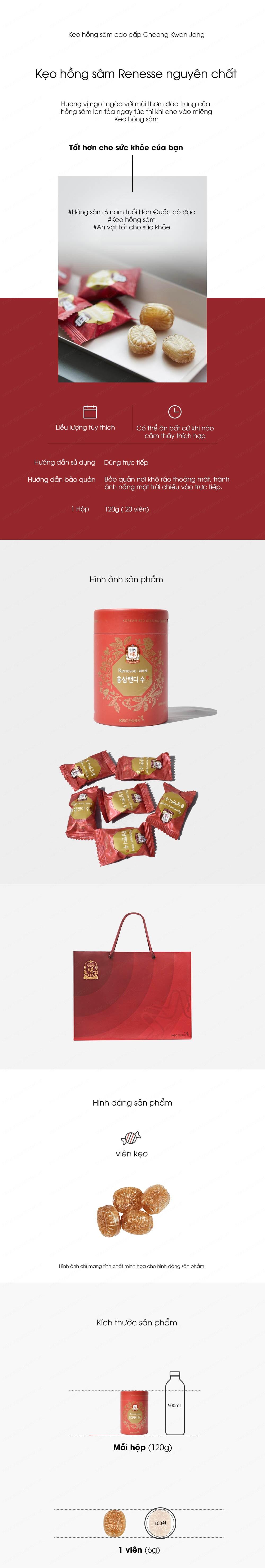 kẹo hồng sâm kgc 120g