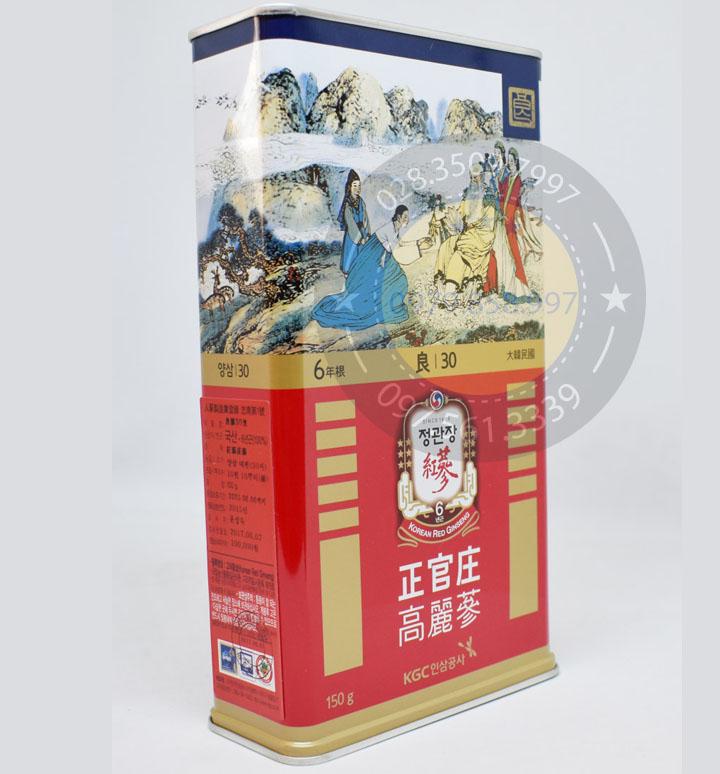 Hồng Sâm Củ Khô KGC Chính Phủ Hàn Quốc 30PCS 150 Gam